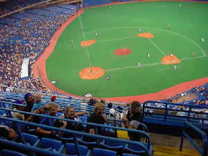 Everyone at the Toronto Blue Jays Game